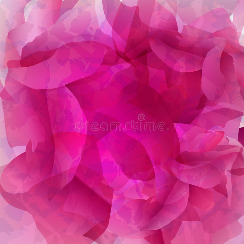 Roze Rose Watercolor vector illustratie