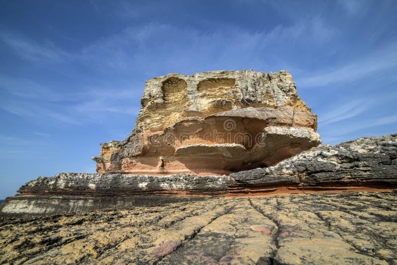 Roze rotsen in Kefken royalty-vrije stock foto