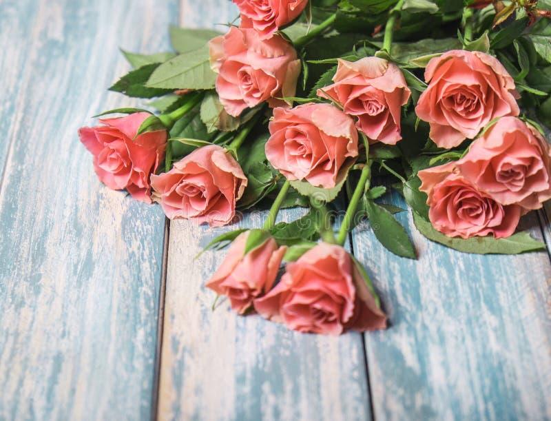 Roze rozen bouget stock fotografie