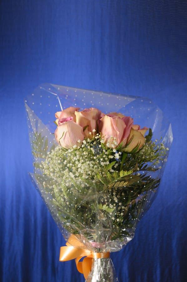 Roze rozenboeket stock fotografie