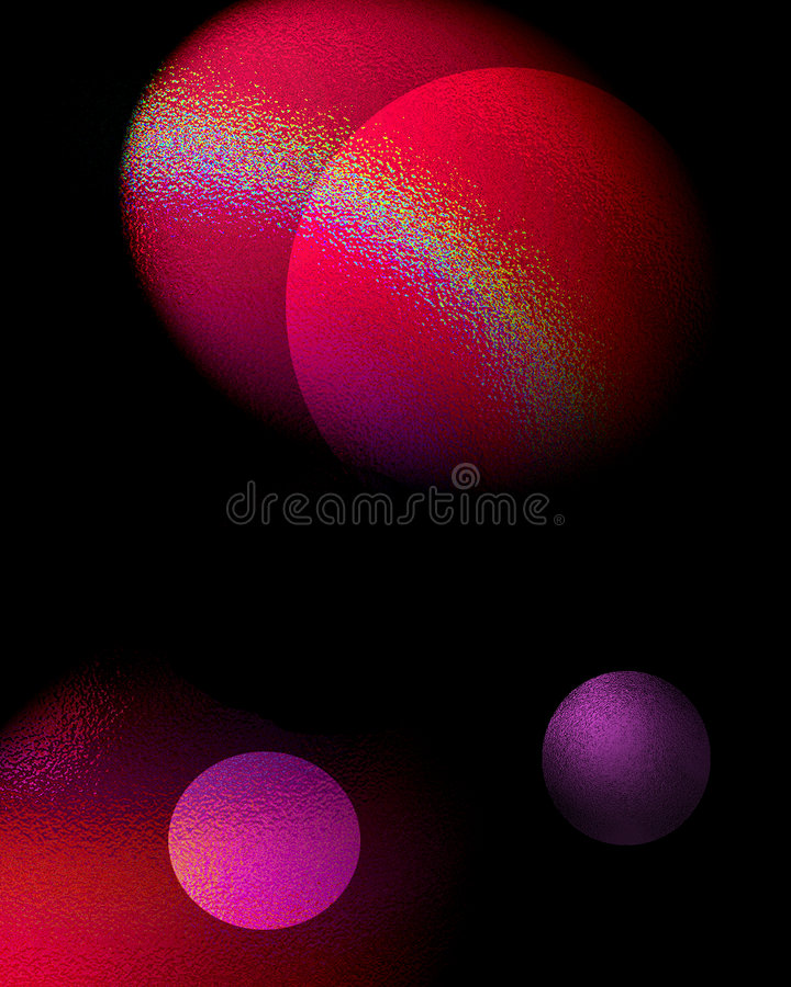 Roze ruimte vector illustratie