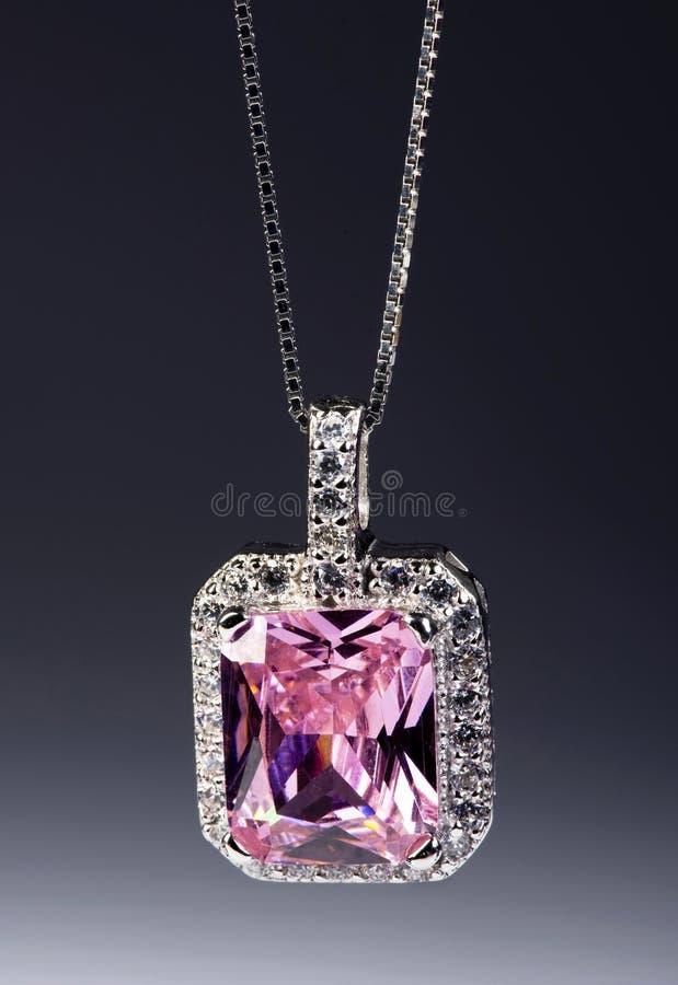 Roze Saffier stock afbeeldingen