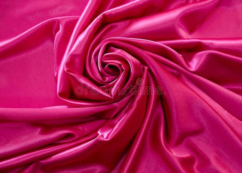 Roze satijn royalty-vrije stock fotografie