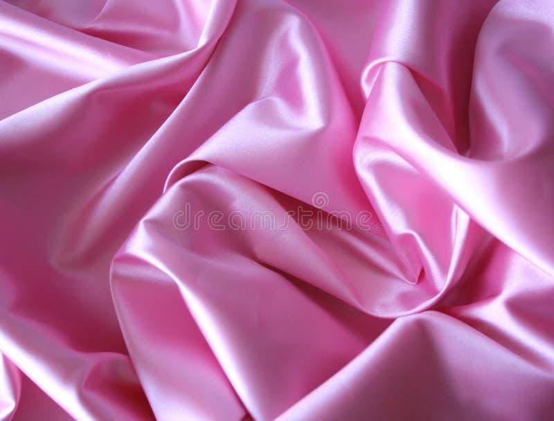 Roze satijn royalty-vrije stock afbeelding