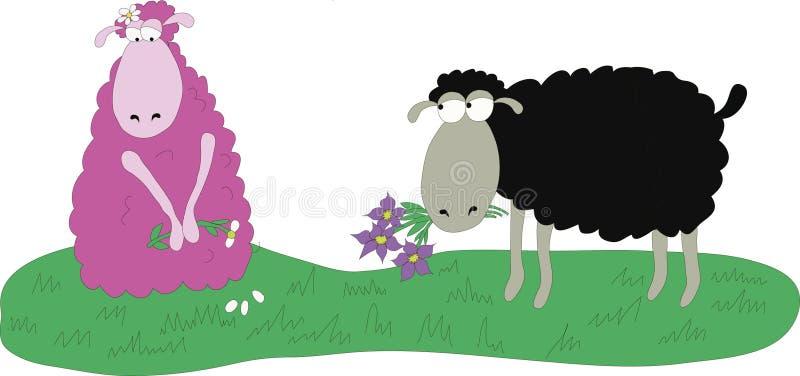 Roze schapen stock foto's