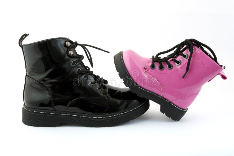 Roze schoenen stock fotografie