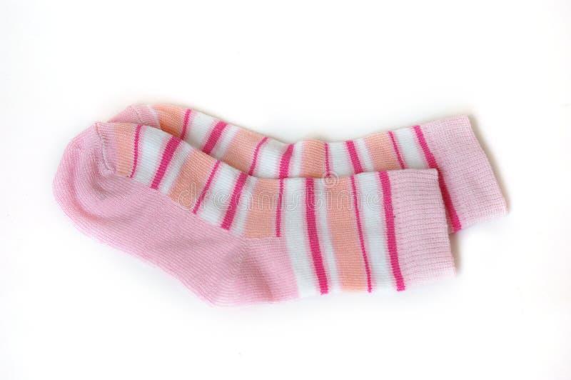 Roze sokken stock foto