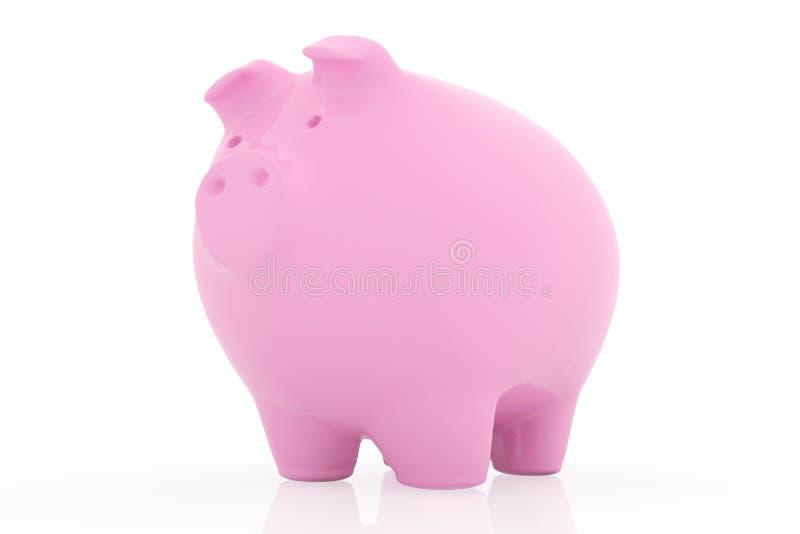 Roze Spaarvarken op witte achtergrond vector illustratie