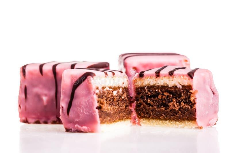 Roze stempelcake stock afbeelding