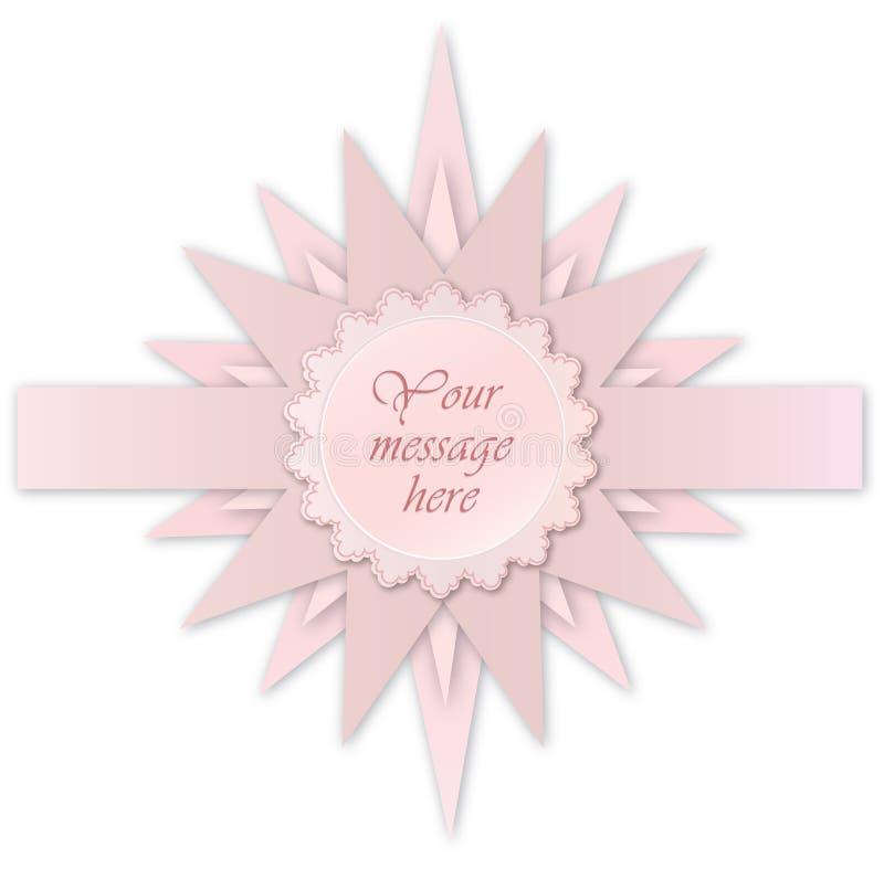 Download Roze Steretiket. De Kaart Van De Groet Voor Bithday Jong Geitje Of Partij Vector Illustratie - Illustratie bestaande uit ontwerp, viering: 29504369
