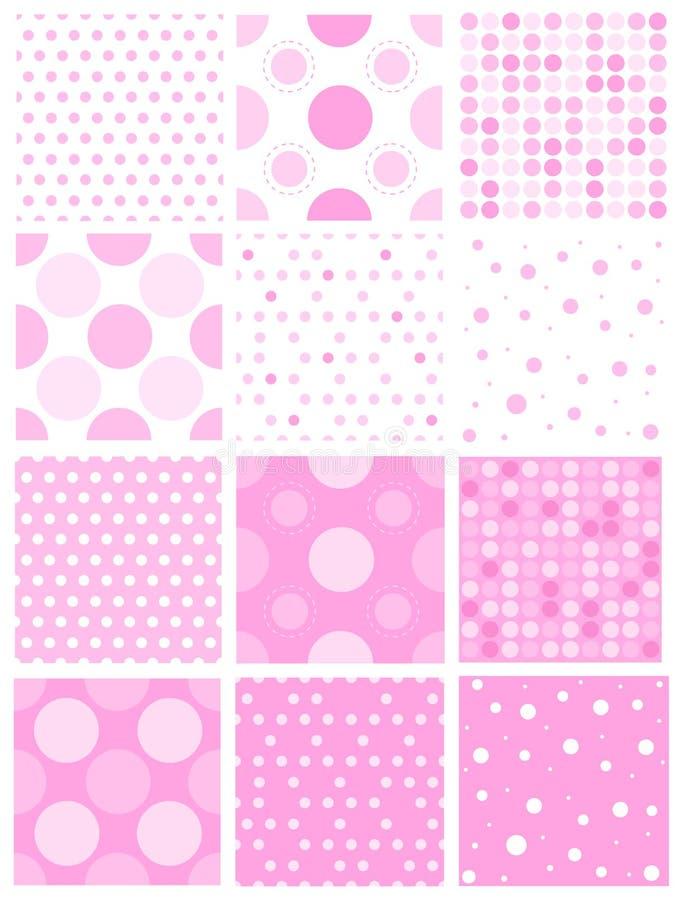 Roze stip stock illustratie