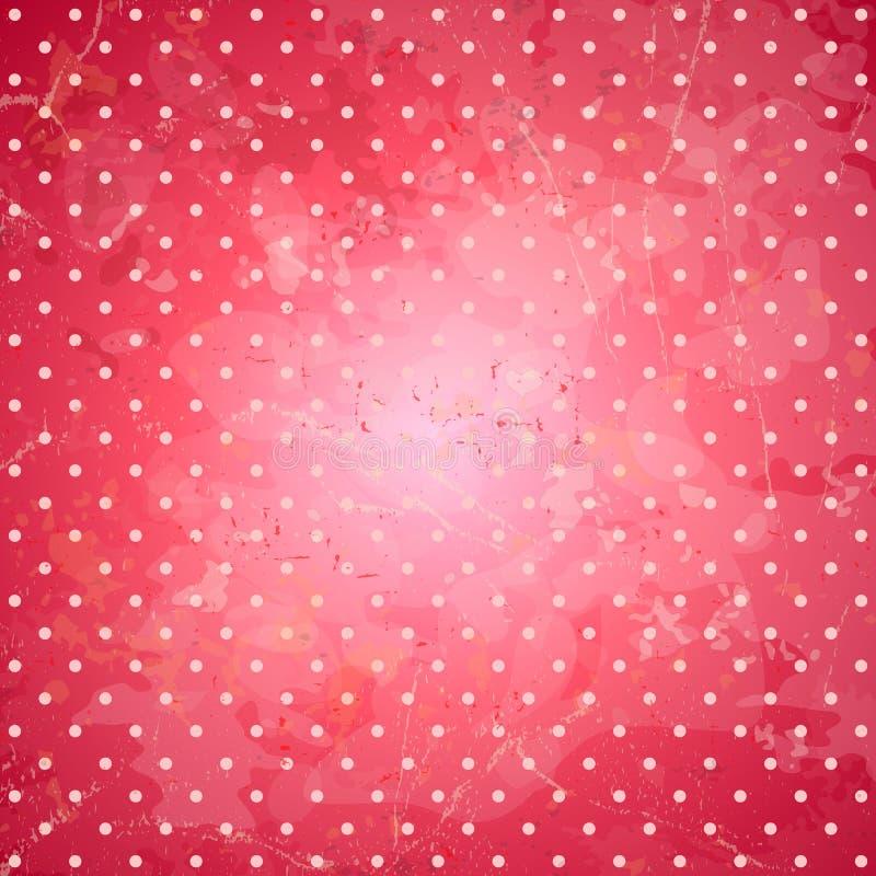 Roze stippen vectorachtergrond royalty-vrije illustratie
