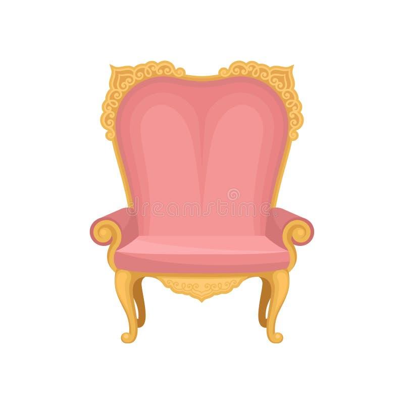 Roze stoel op witte achtergrond Vector illustratie royalty-vrije illustratie