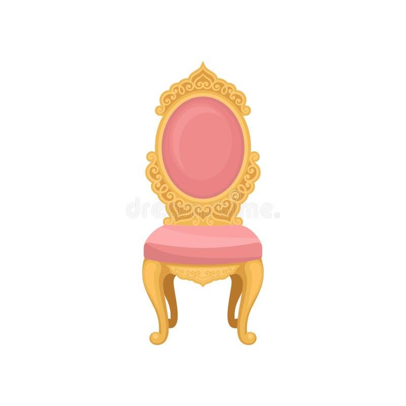 Roze stoel op witte achtergrond Vector illustratie vector illustratie