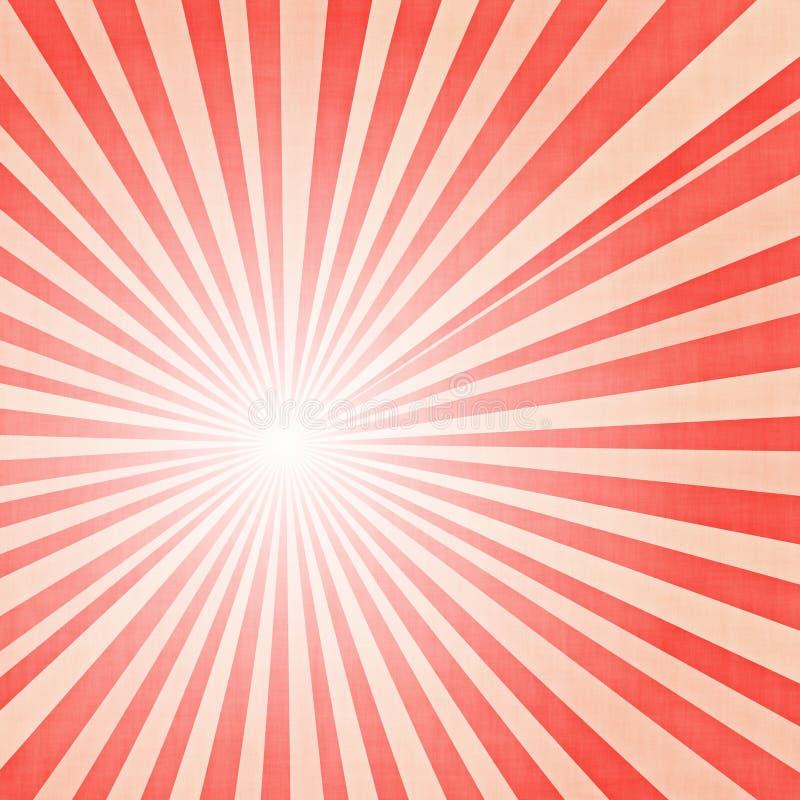Roze stralenachtergrond stock illustratie