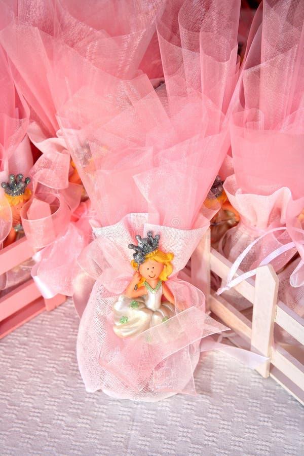Roze suikergoedgunsten royalty-vrije stock afbeeldingen