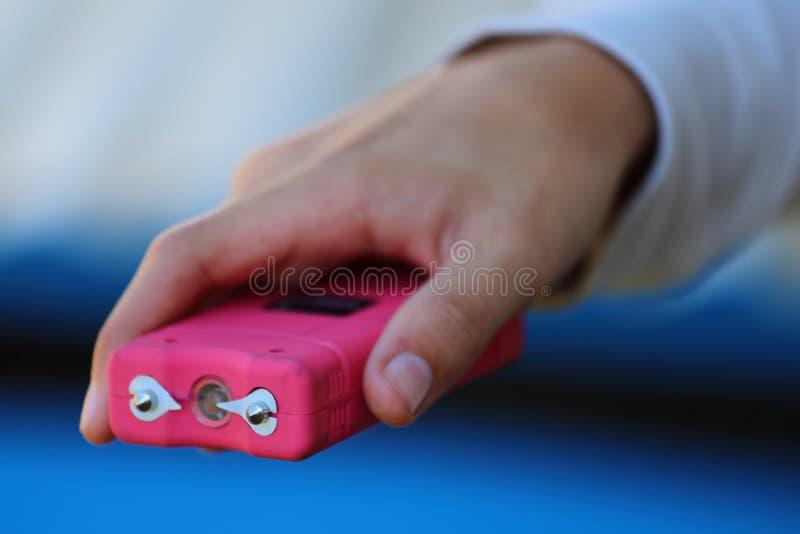 Roze Taser stock foto's