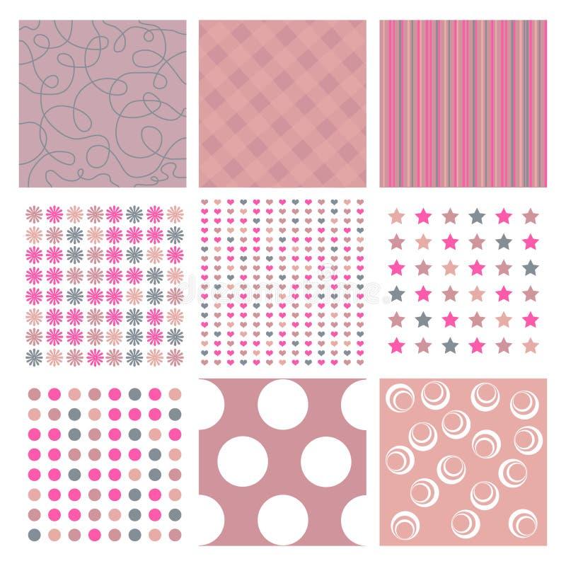 Roze texturen stock illustratie