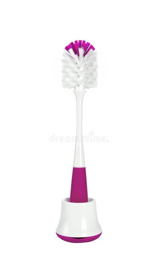 Roze Toiletborstel stock afbeelding