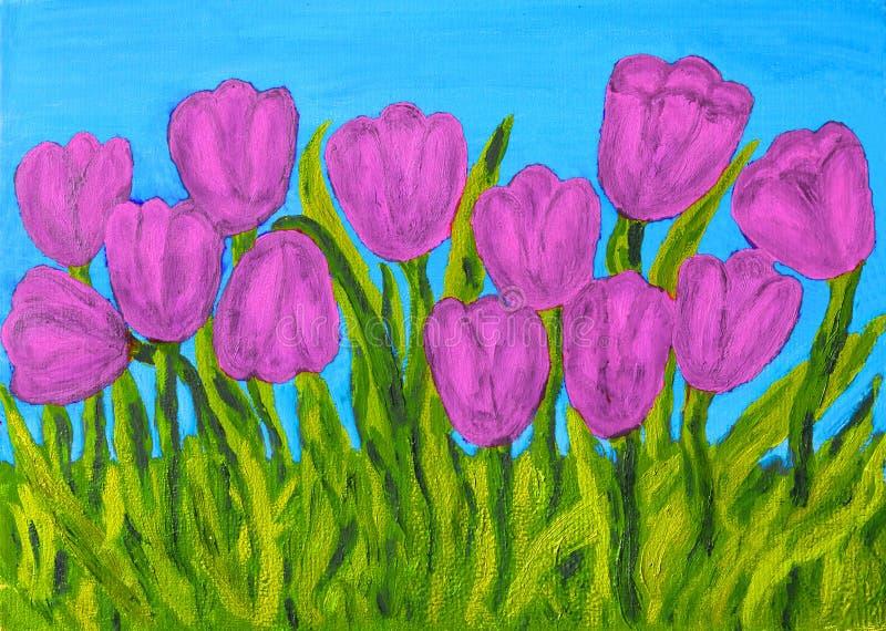 Roze tulpen royalty-vrije illustratie