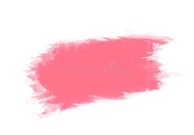 Roze van de de kleurenborstel van de waterkleur grafische de slagenflarden stock afbeeldingen