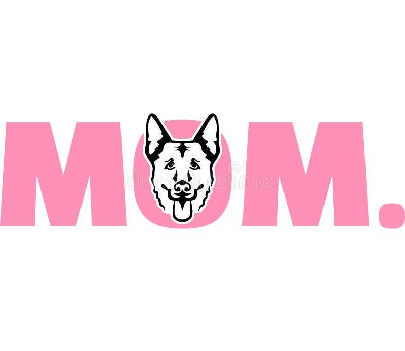 Roze van het Duitse herder het beste mamma stock illustratie