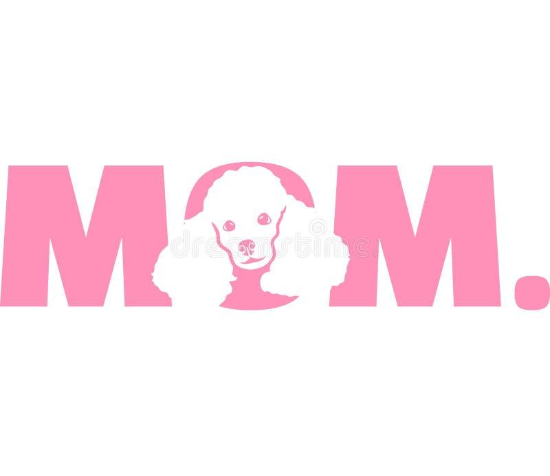 Roze van het poedel het beste mamma royalty-vrije illustratie
