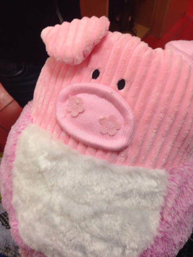 Roze Varken Plushie royalty-vrije stock foto's
