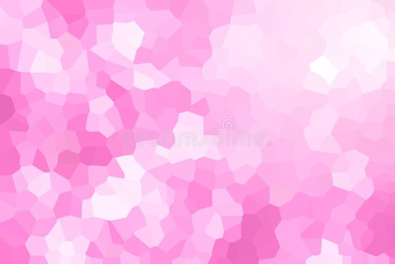 Roze veelhoekige illustratie, wat uit driehoeken bestaan Geometr vector illustratie