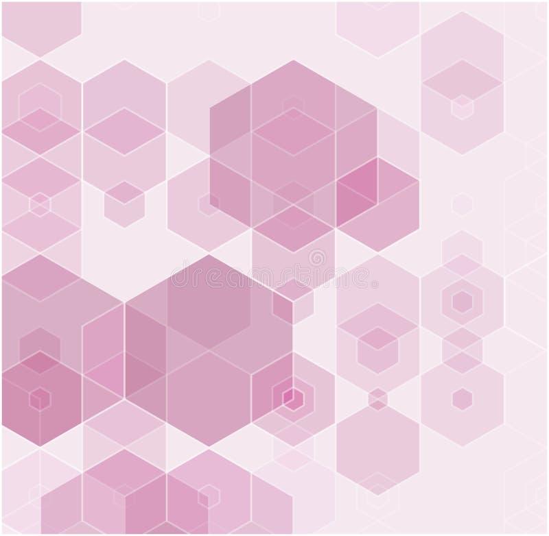 Roze veelhoekige illustratie, wat uit driehoeken bestaan Geometrische achtergrond in Origamistijl met gradiënt vector illustratie