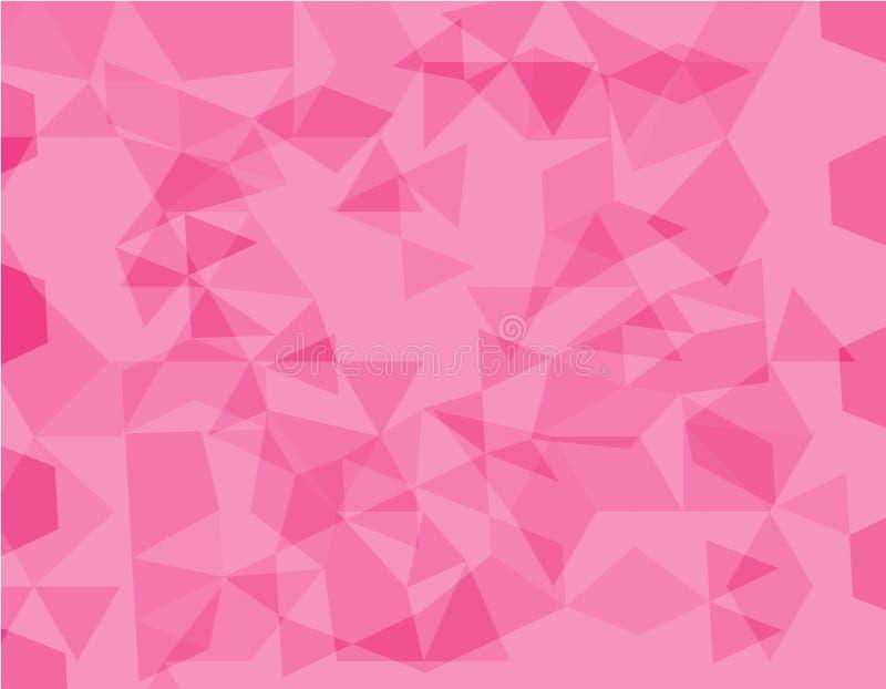 Roze veelhoekige illustratie, wat uit driehoeken bestaan Geometrische achtergrond in Origamistijl met gradiënt Driehoekig ontwerp vector illustratie