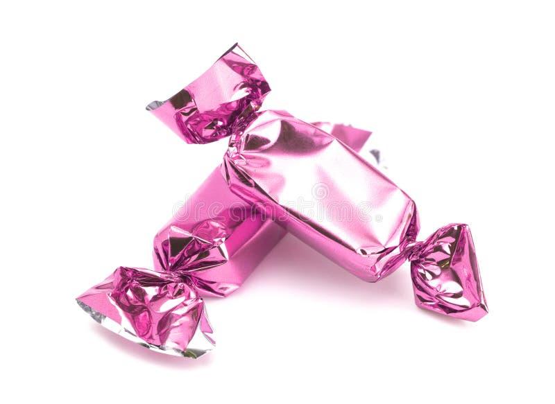 Roze Verpakt Suikergoed stock fotografie