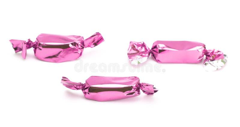 Roze Verpakt Suikergoed stock afbeelding