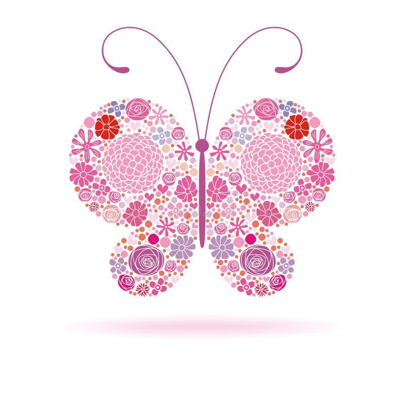 Roze vlinder royalty-vrije illustratie
