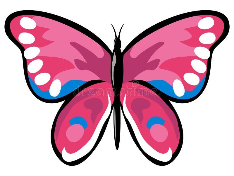 Roze vlinder vector illustratie