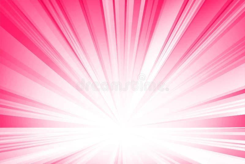 Roze vlotte lichte lijnen abstracte achtergrond Vector illustratie vector illustratie