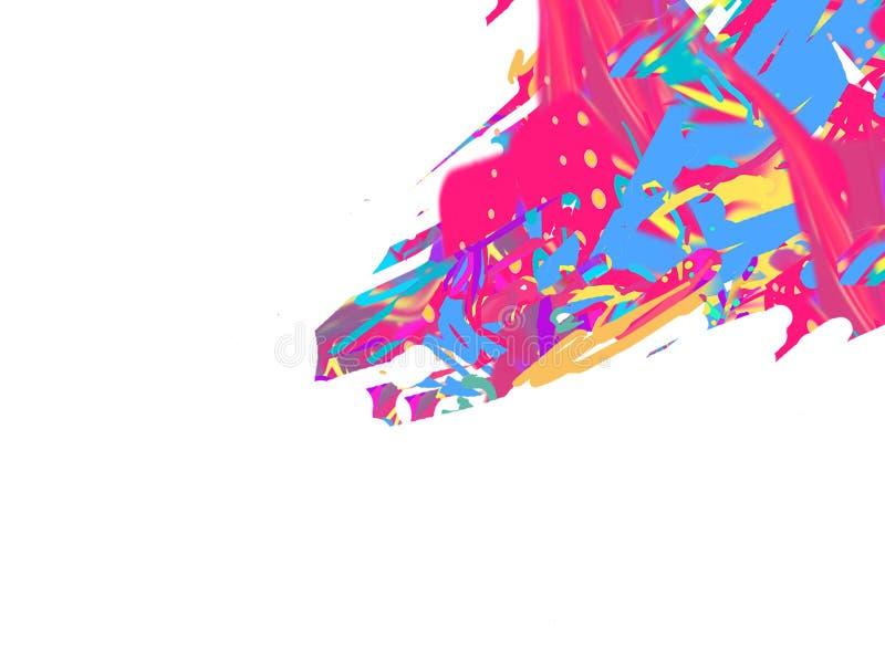 Roze Vogelart. De Vlekken van de kleur Digitaal beeld Illustratie royalty-vrije illustratie