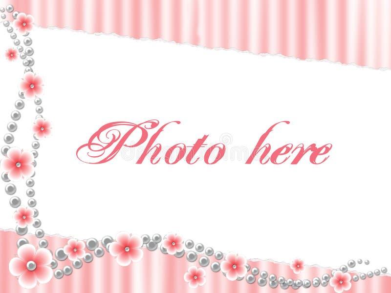 Roze voorgestelde grens stock illustratie