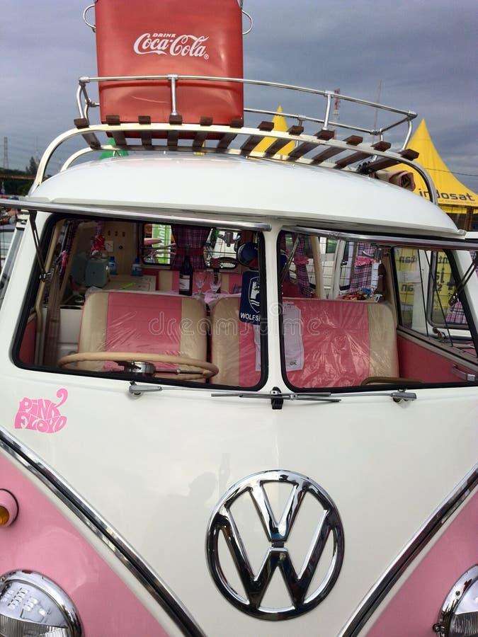 Roze VW stock foto's