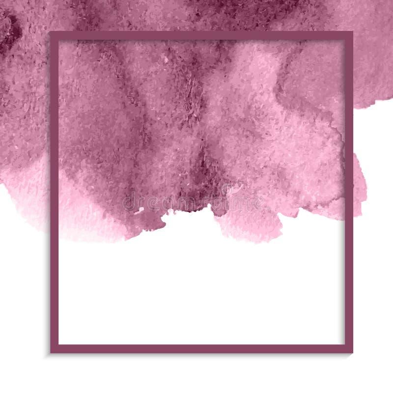 Roze waterverfachtergrond stock illustratie