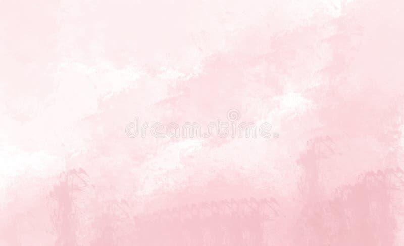 Roze waterverfachtergrond Digitale tekening vector illustratie
