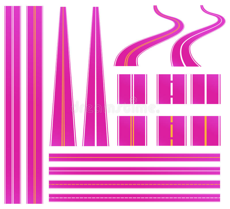 Roze weg vector illustratie