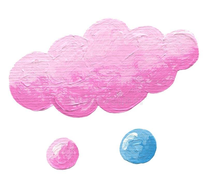 Roze wolk met twee dalingen royalty-vrije illustratie