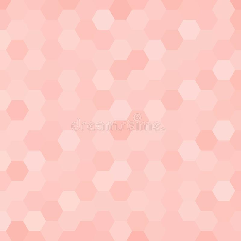 Roze zeshoeken Veelhoekige stijl Abstracte vectorachtergrond eps 10 stock illustratie