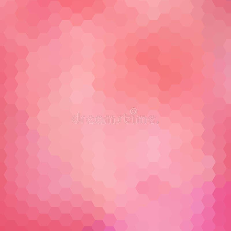 Roze zeshoeken Veelhoekige stijl Abstracte vectorachtergrond Eps 10 vector illustratie