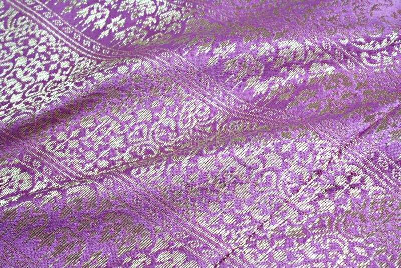 Roze zijde Geweven stof royalty-vrije stock afbeeldingen