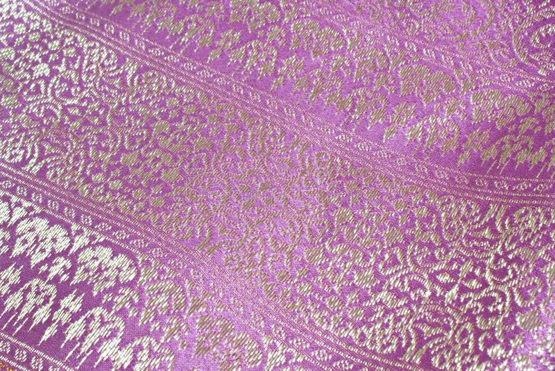 Roze zijde Geweven stof royalty-vrije stock fotografie
