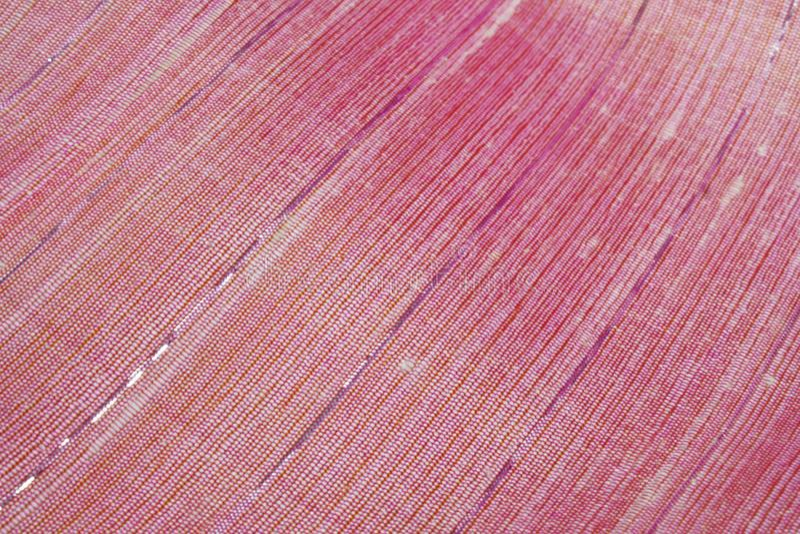 Roze zijde Geweven stof royalty-vrije stock foto's