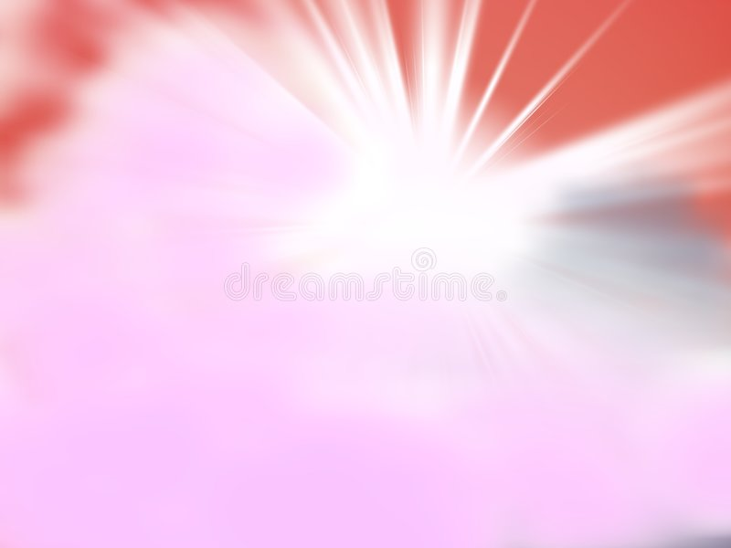 Roze zonsopgang stock illustratie