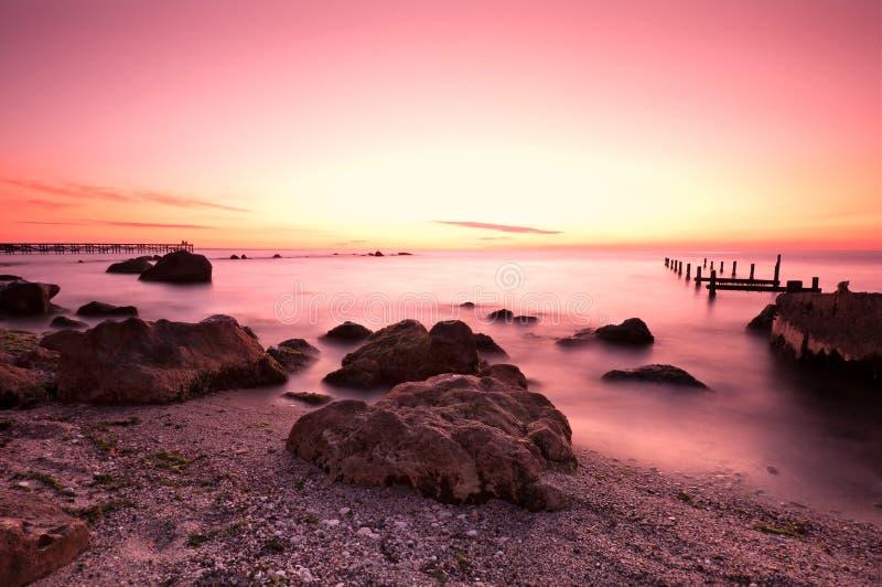 Roze zonsopgang royalty-vrije stock foto